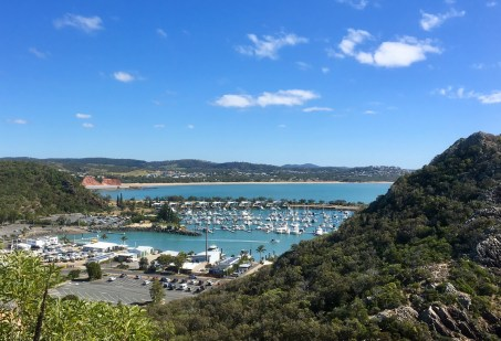 View from the bluff of our marina