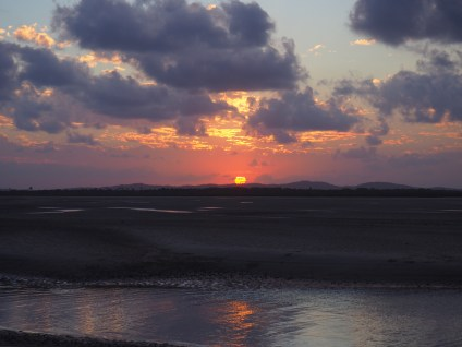 Sunset from the sand flats