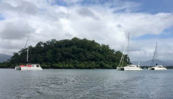 Anchored at Haycock Island - thank you Waterfront for the pic!