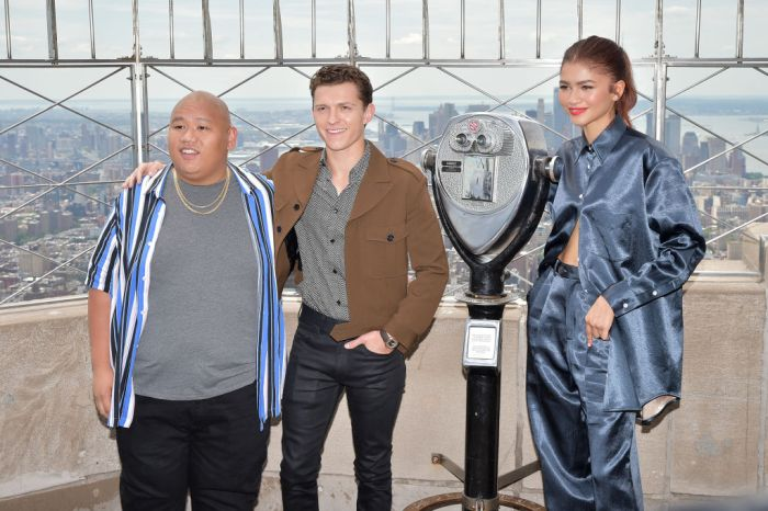 "Stars Of ""Spider-Man: Far From Home"" Light The Empire State Building"