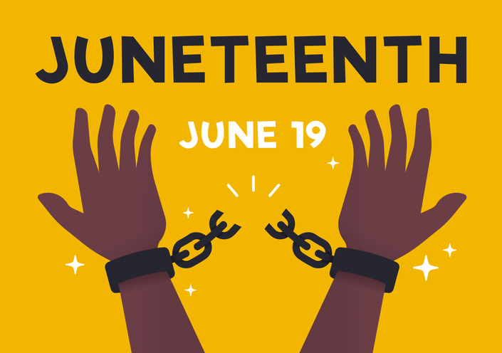 Juneteenth Freedom Breaking Chains