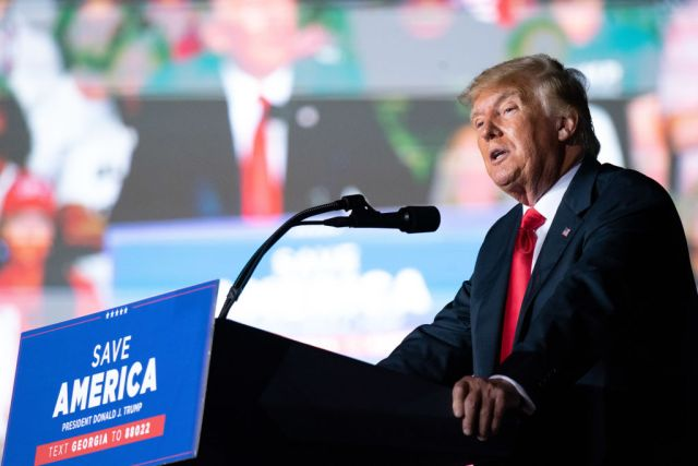 Former President Trump Holds Rally In Perry, Georgia