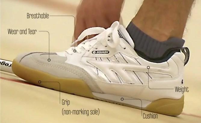 Competition Squash Court Shoes
