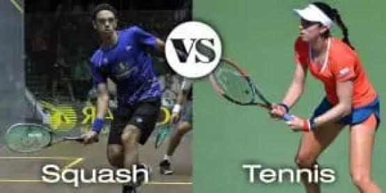 Squash VS Tennis Player Force Footwork