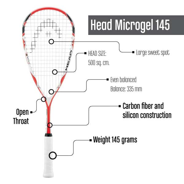 Squash Racquet under $100_HeadMicrogel145
