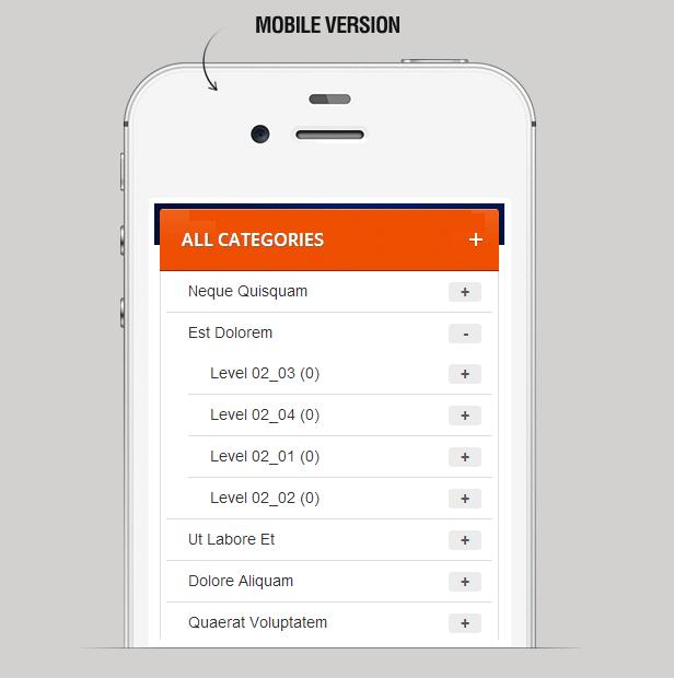 Mega Menu on mobile