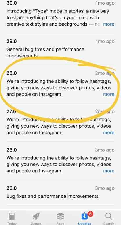 Social Media App Updates
