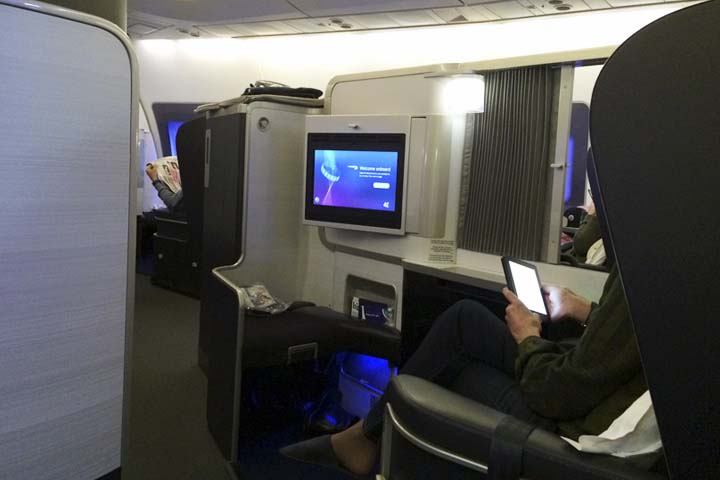 What it is like to fly business class