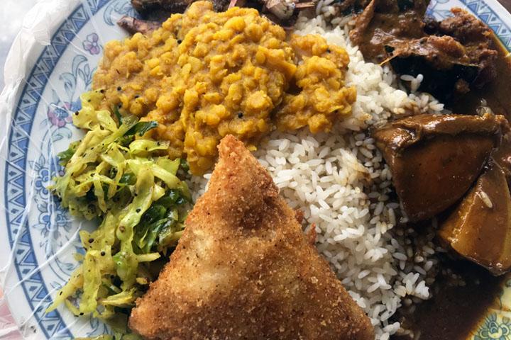 authentic Sri Lankan food