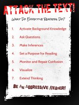 25. I read this in a book by CRIS TOVANI and I like it as a framework for teaching students reading comprehension skills.