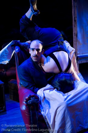 Aram Aghazarian and Rebecca Noon in Alfred Hitchcock's The 39 Steps at Perseverance Theatre 2011