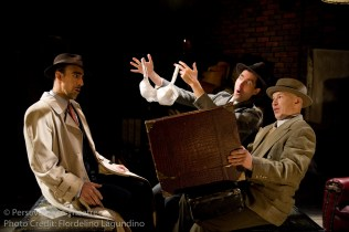 Aram Aghazarian, Jed Hancock-Brainerd and Roblin Gray Davis in Alfred Hitchcock's The 39 Steps at Perseverance Theatre 2011