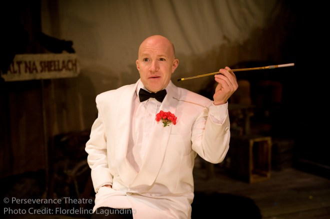 Roblin Gray Davis in Alfred Hitchcock's The 39 Steps at Perseverance Theatre 2011
