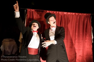 Roblin Gray Davis and Jed Hancock-Brainerd in Alfred Hitchcock's The 39 Steps at Perseverance Theatre 2011