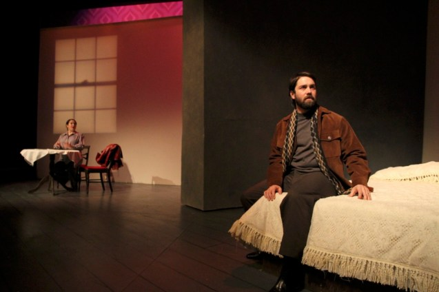 Shona Strauser and Daniel Billet in Betrayal at Perseverance Theatre 2013