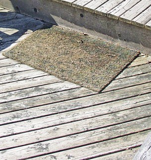 Badly worn deck surface
