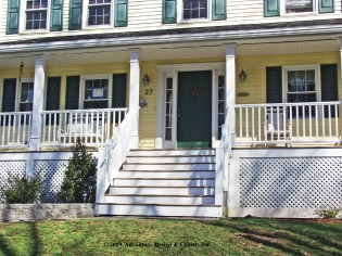 Front view of Methuen porch