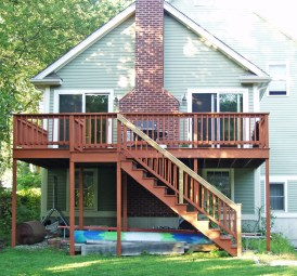 Tall deck for conversion, Lexington, MA
