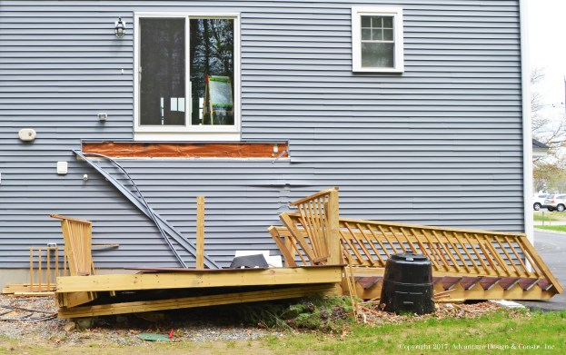 Collapsed deck