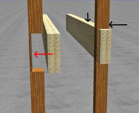 Notched 4x4 Thru-Post Enh Arrows 2