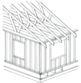 House, conventionally framed