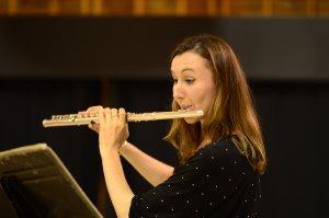 Ela Brandys-O'Neill performing on flute