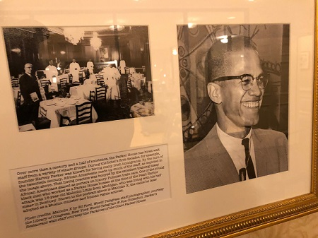 Malcom X at Parker House Hotel in Boston