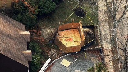 hole - 12-Year-Old Rescued From 10-Foot Hole In Newton – CBS Boston