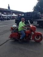 Orange Bagger at Sturgis 2013
