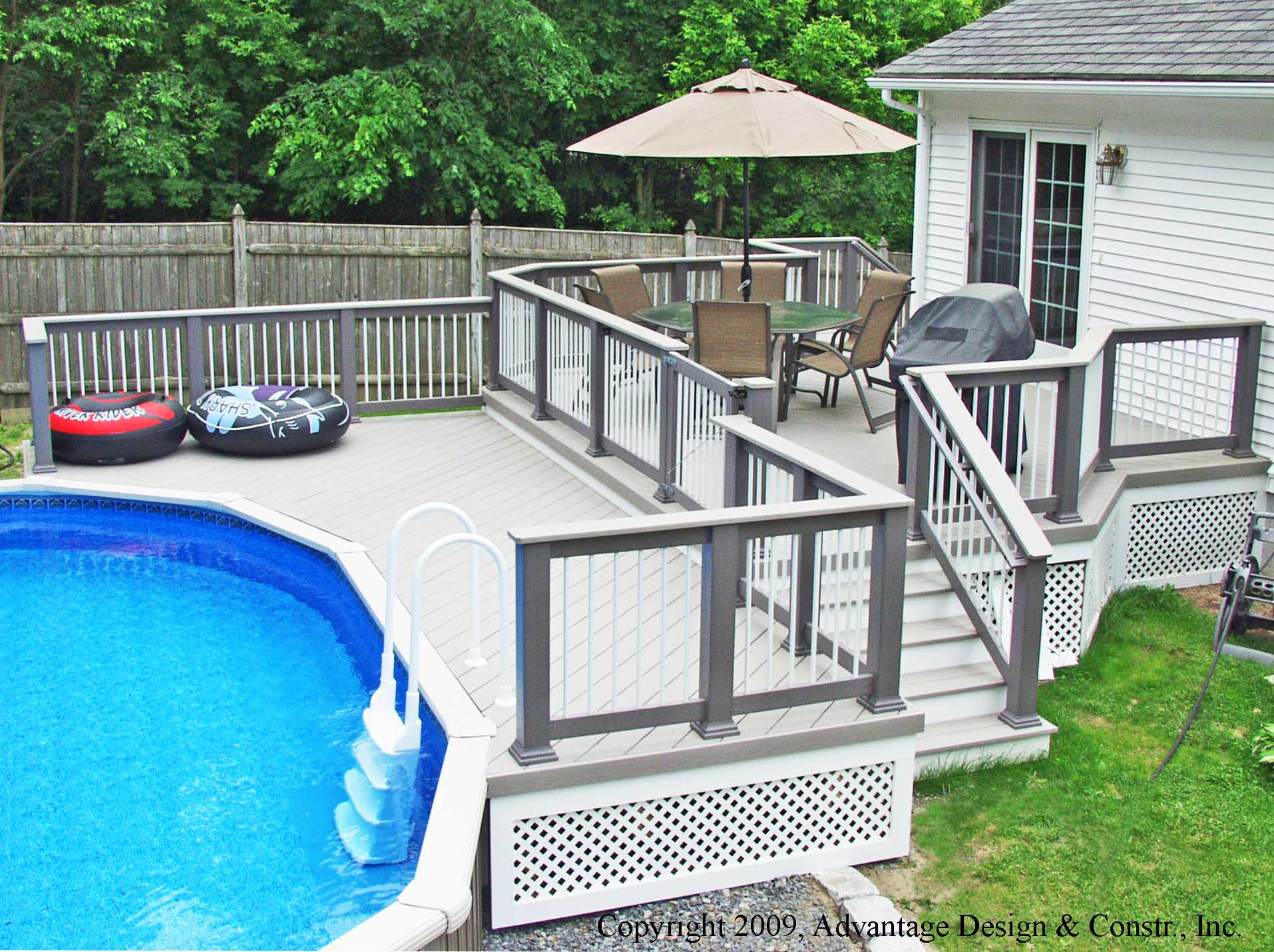 A Pool Deck Solution - Suburban Boston Decks and Porches blog on Pool Deck Patio Ideas id=31538