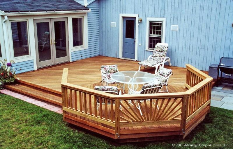 Build Build Wood Deck Over Concrete Patio DIY Small