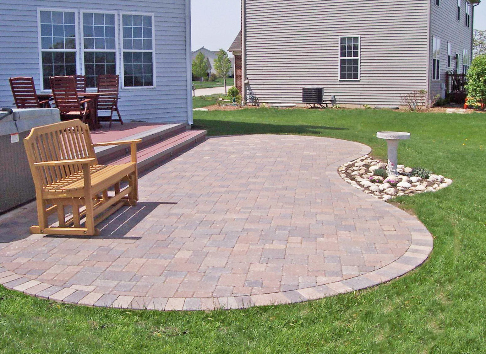 Kidney-shaped patio - Suburban Boston Decks and Porches blog on Patio Shape Designs id=92742