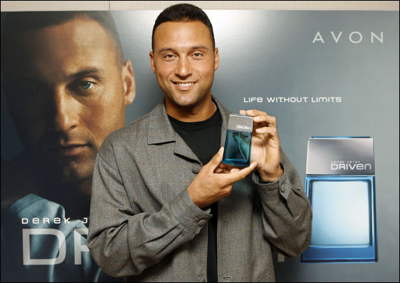 Avon Products, Inc. and New York Yankees shortstop Derek Jeter strike a partnership with the launch of the new fragrance Driven, Monday, July 31, 2006. The fragrance, which becomes available in November, will be offered throughout the United States, Puerto Rico and Canada