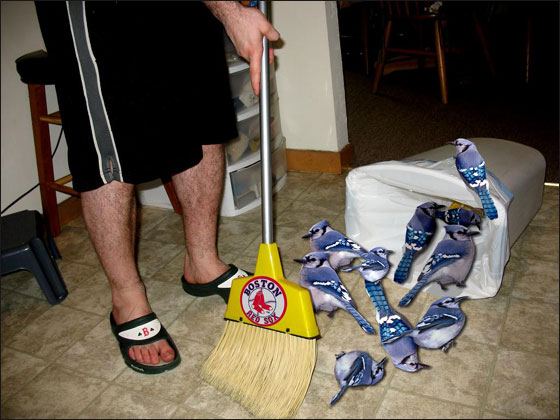 Jays swept away