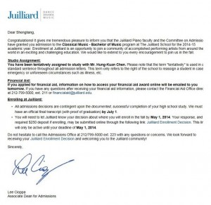2014_Juilliard_Admission_Letter