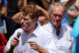 Joe Kennedy narrowly leads Ed Markey in a margin-of-error race for the Democratic nomination for US Senate.