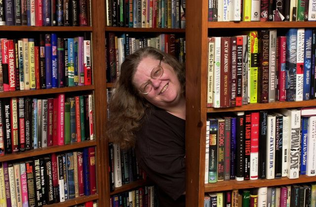 Ms. Mattes, whose store for decades was a hub for New England's mystery writers and readers, poked her head out from behind her hidden door at Kate's Mystery Books.