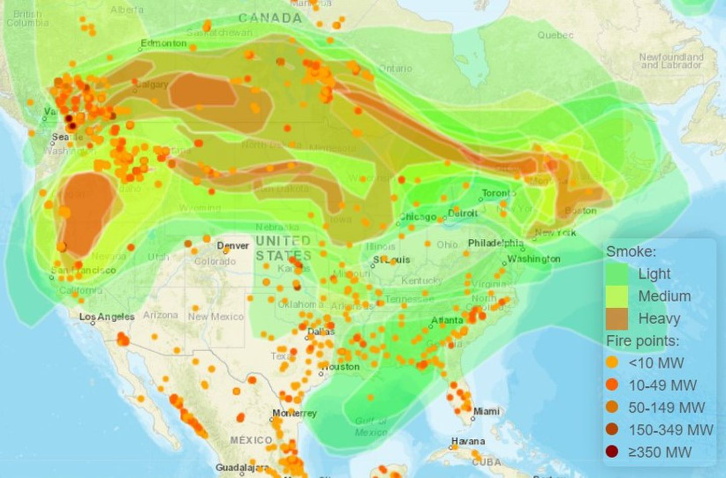 The white line was the perimeter at 12:01 a.m. New England S Air Quality Is Worse Than Anywhere In Us Besides California The Boston Globe