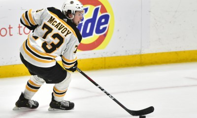 Boston Bruins defenseman Charlie McAvoy