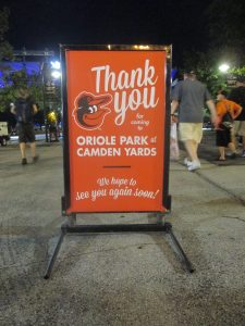 Camden Yards - Thank you for Coming!