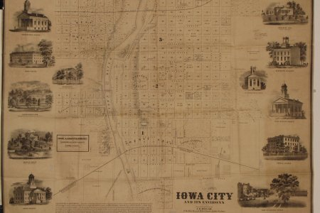 Map Iowa Cities Path Decorations Pictures Full Path Decoration - Vintage iowa map