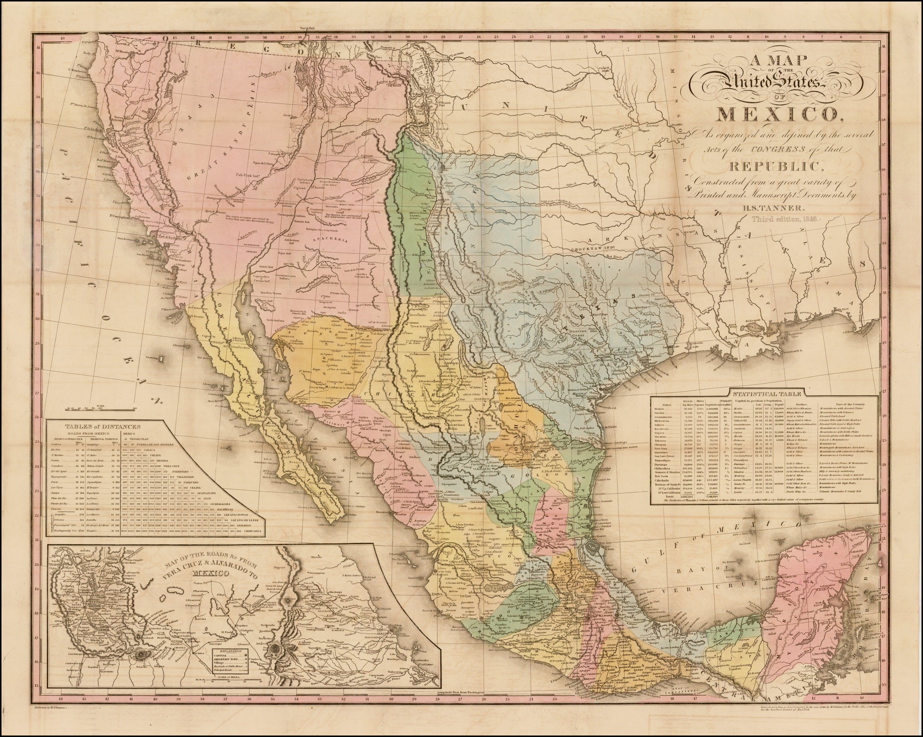 Tanner S Map Of Mexico