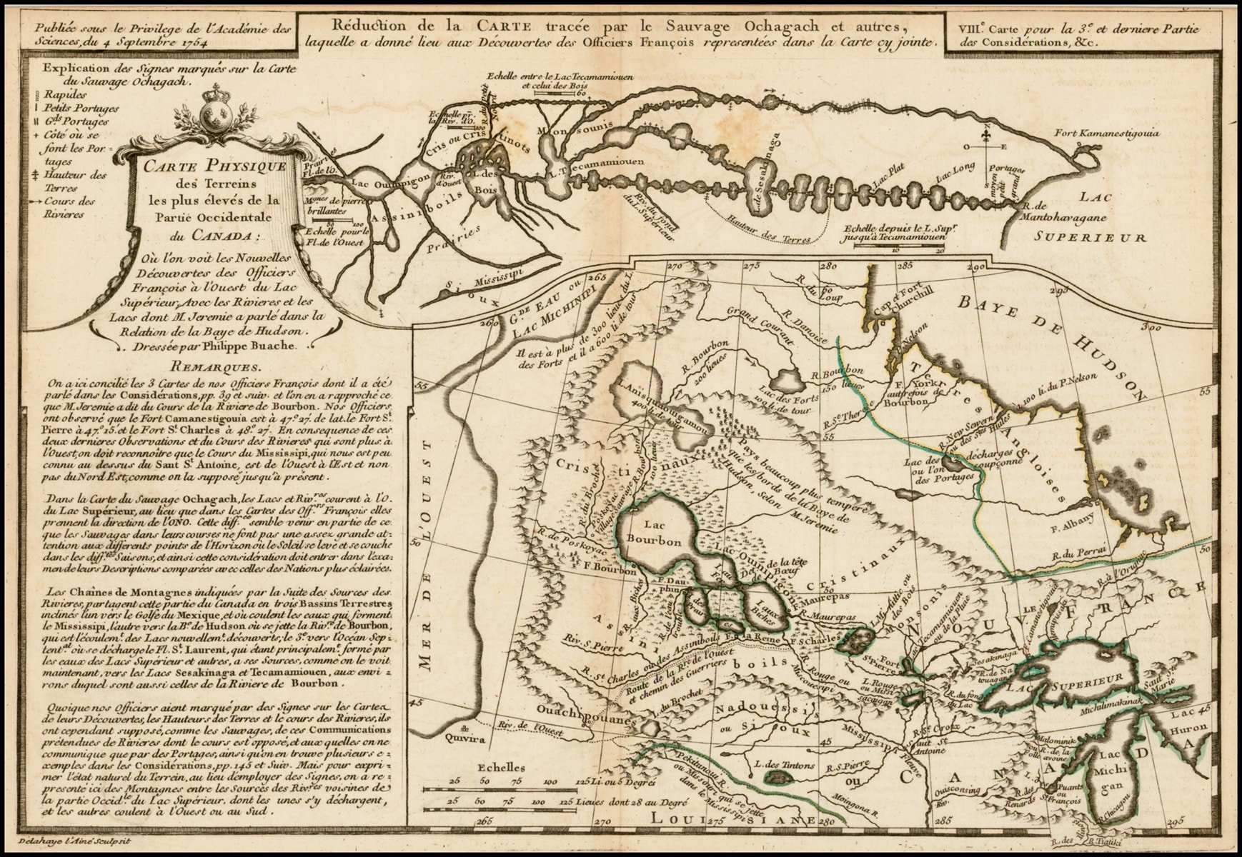 Early Native American Cartography On A Printed Map