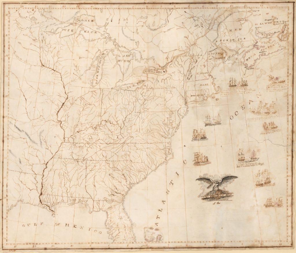 War Of M Cript Map After Shelton And Kensett