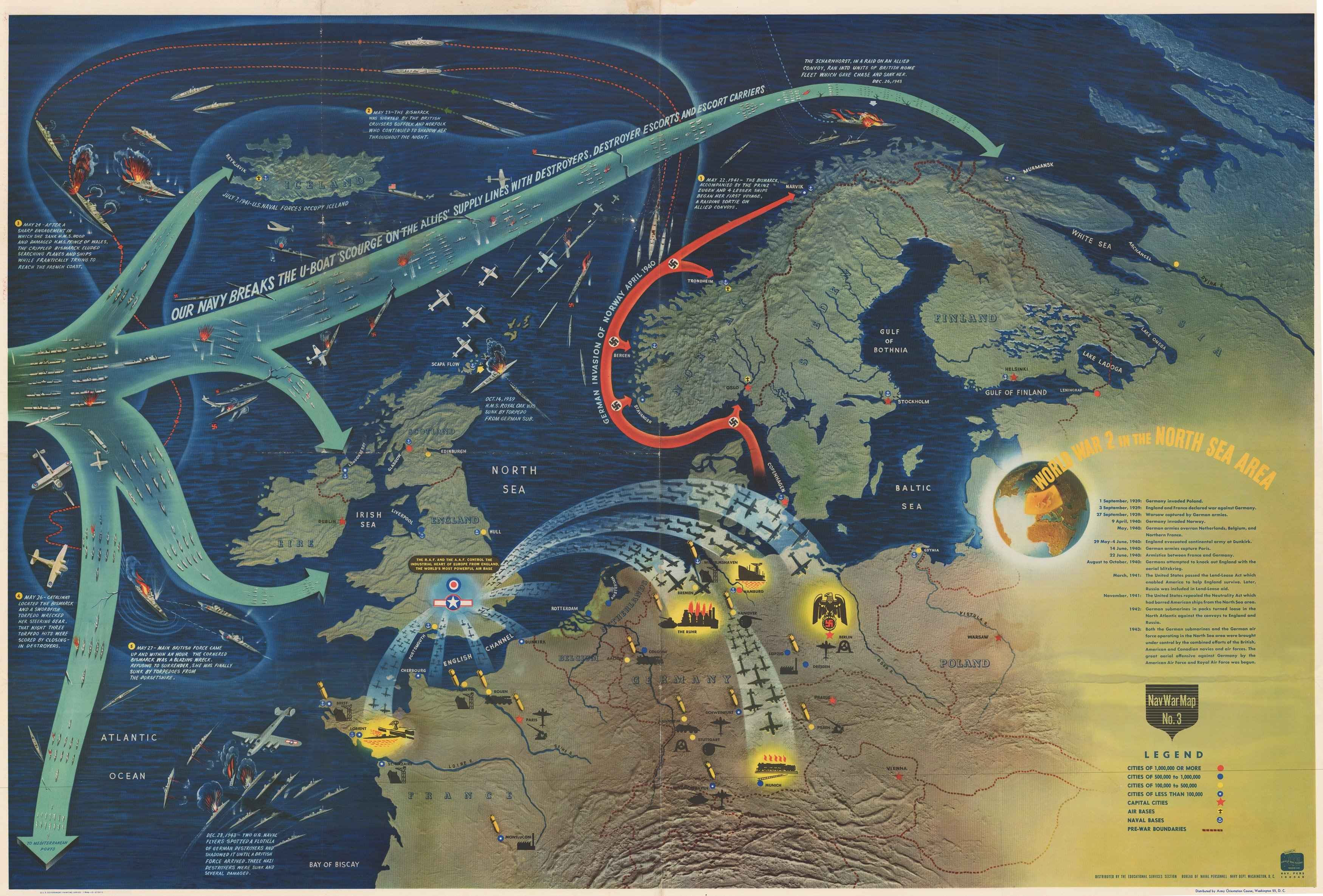 Striking Nav War Map Issued By The U S Navy