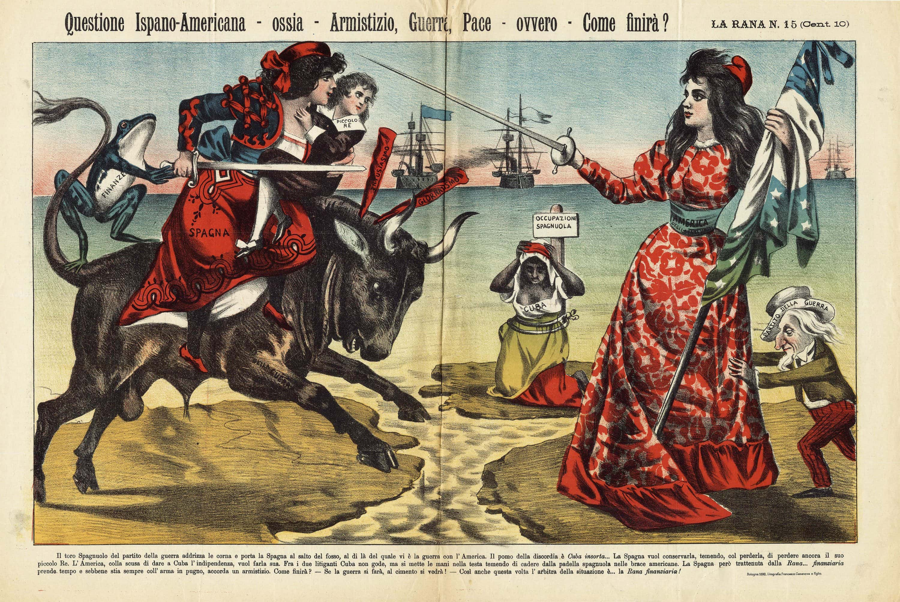 Italian Political Satire On The Looming Spanish American