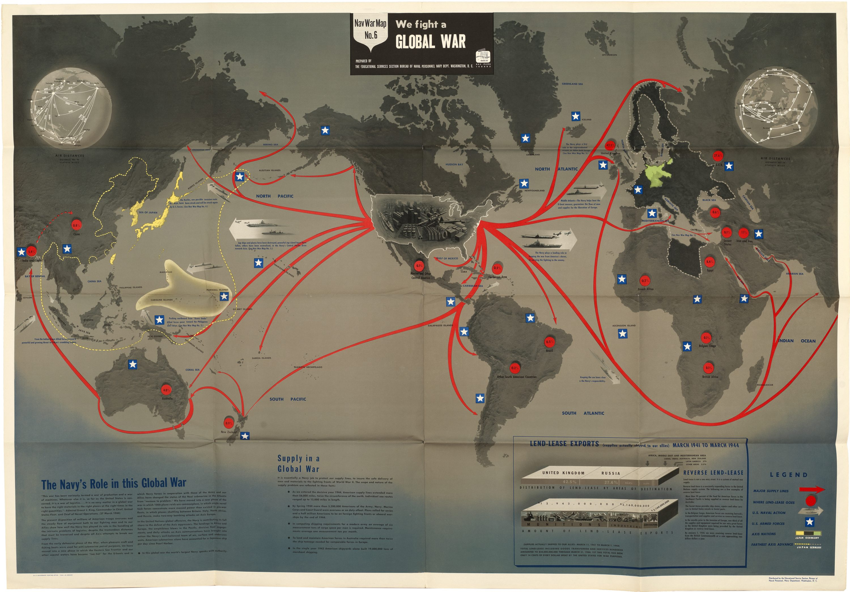 Striking Second World War Map Of Global War