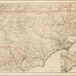 Exceptional Map Of North Carolina And Parts Adjacent Prepared In 1865 For The Union Army Rare Antique Maps