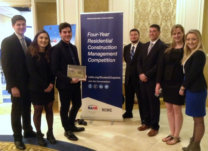 Student organization finishes in Top 20 in Residential Construction Management Competition