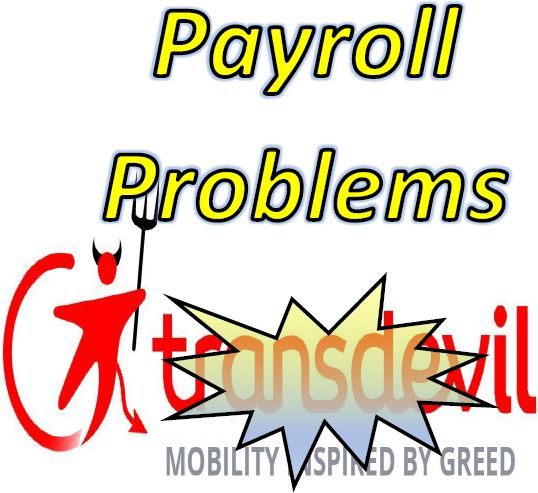 Payroll Problems:  How to write to Transdev Payroll